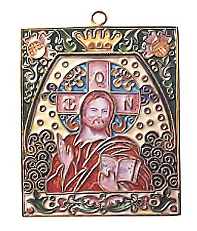 Enamel Christ Icon
