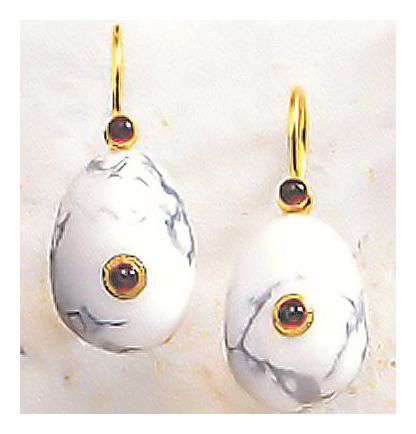 Caspian Egg Earrings