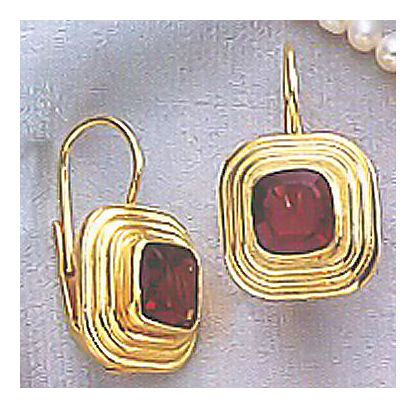 Garnet Temple Earrings
