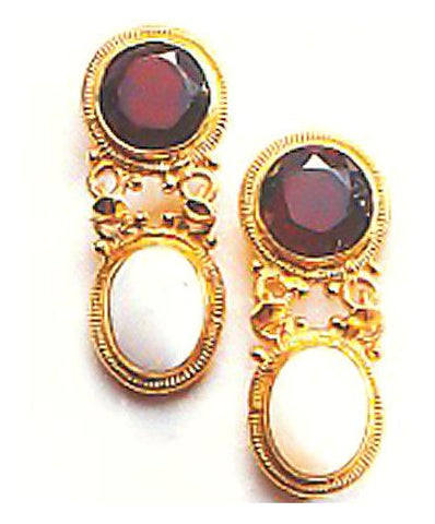 Banbury Garnet & Opal Earrings