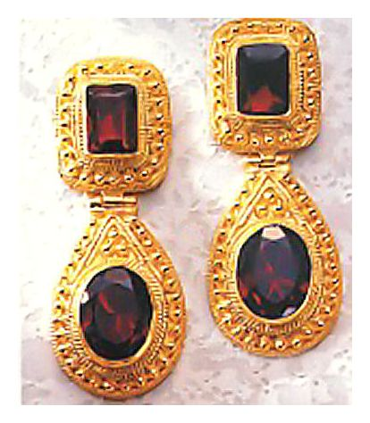 Malabar Garnet Earrings