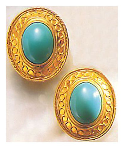 Lady Agatha Turquoise Earrings