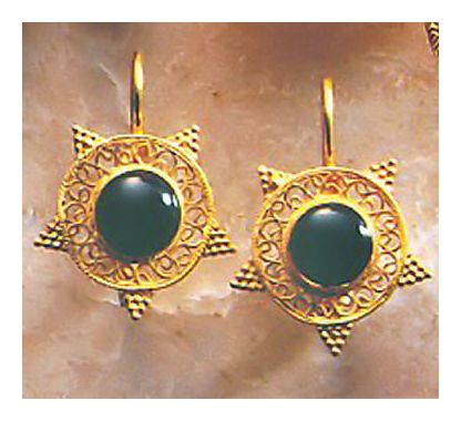 Olmpian Onyx Earrings
