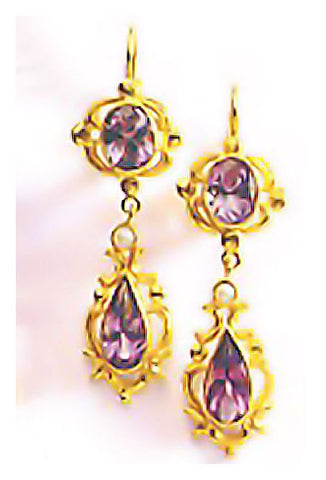 Lady Of Shalott Amethyst Pearl Earrings