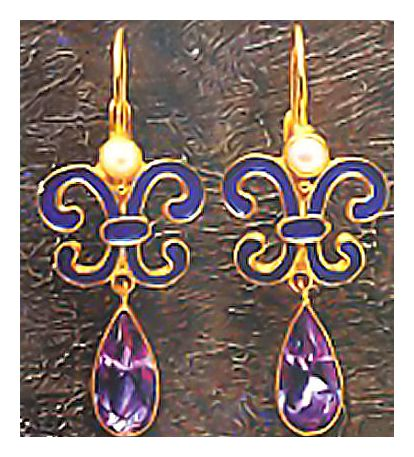 Florentine Amethyst Earrings