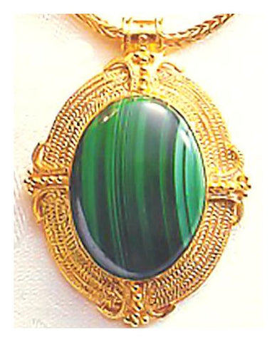 Mansfield Park Malachite Necklace