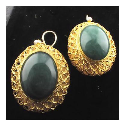 Lhasa Aventurine Earrings