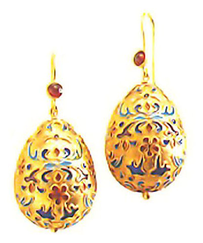 Czarina Egg Earrings