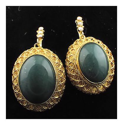 Lhasa Aventurine Earrings-Screw Backs