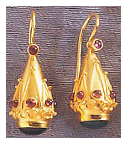Crown Of Pompeii Earrings-Screw Backs