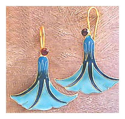 Dancing Lady Earrings-Screw Backs