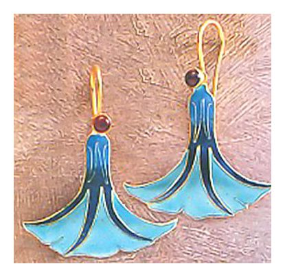 Dancing Lady Enamel Earrings