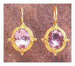 14k Ashford Amethyst Earrings
