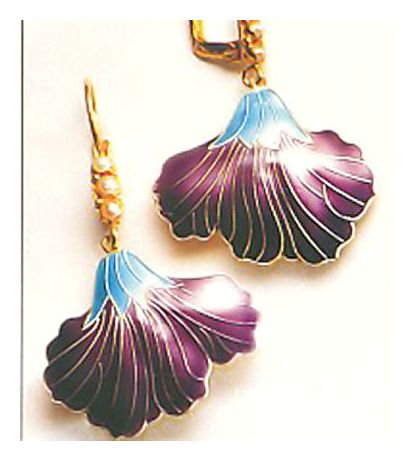Mauve Iris Earrings-Screw Backs