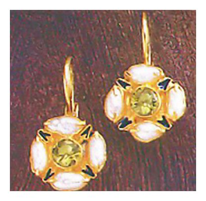14k Kew Gardens Peridot & Pearl Earrings