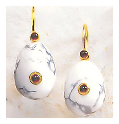 Caspian Egg Earrings-Screw Backs