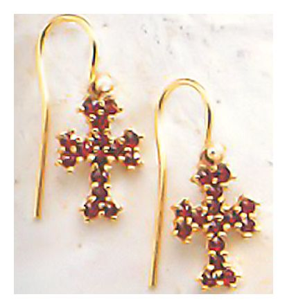 Crimea Garnet Earrings-Screw Backs