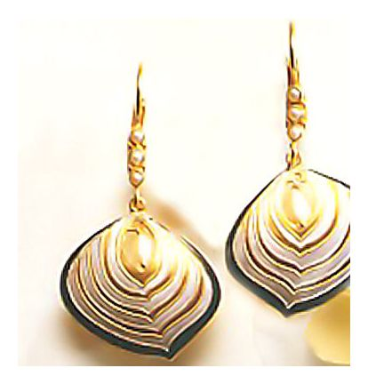 Pompeii Shield Earrings-Screw Backs