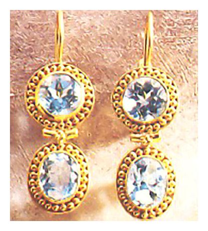 Blue Topaz Ballroom Earrings
