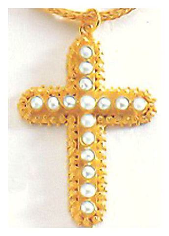Salisbury Pearl Cross Necklace