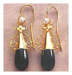 14k Salome Onyx Earrings