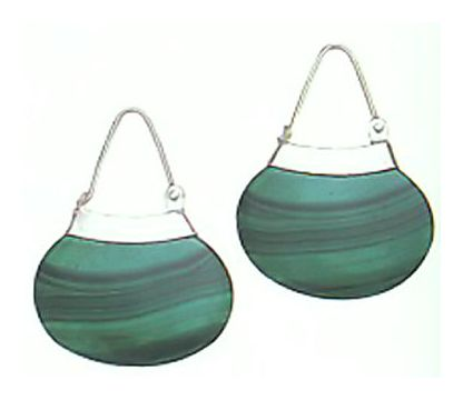 Malachite Purse Earrings