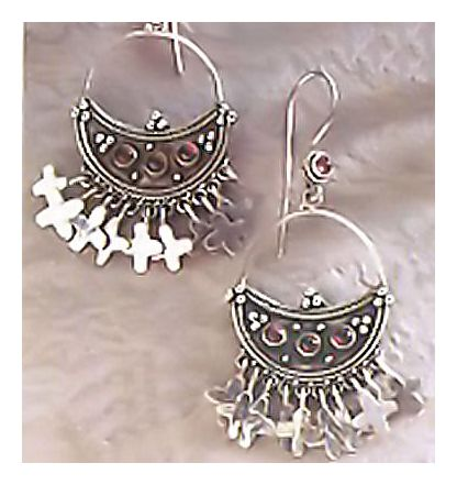 Puebla Silver Cross Earrings