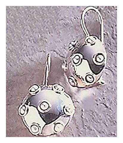 Silver Pearl Disc Earrings