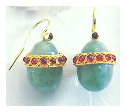 Aventurine Egg Earrings