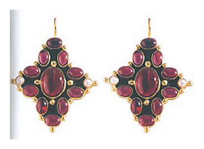 Her Majesty Garnet Earrings