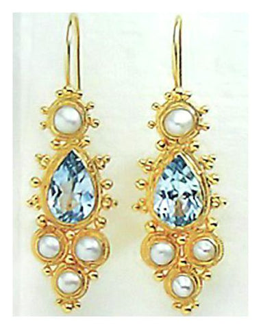 Midsummer's Ball Earrings in Blue Topaz