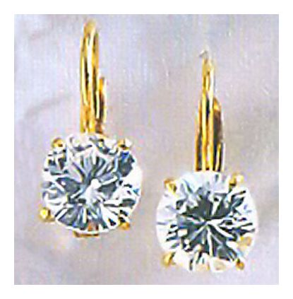 14k Wellington Cubic Zirconia Earrings