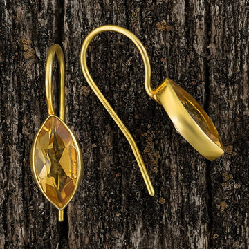 Jean Antoinette Marquise Citrine Earrings
