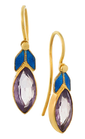 Lily Elsie Enamel and Amethyst Earrings