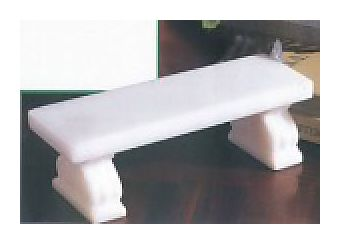White Ionic Marble Benches