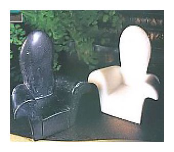 Pair of Marble Deco Chairs