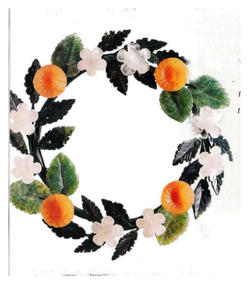 Handcarved Stone Wreath