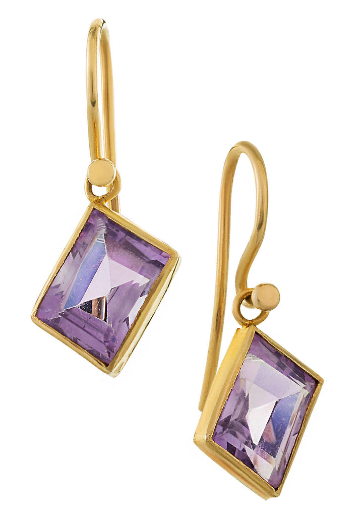 Amethyst Art Deco Dangle Earrings