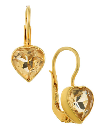 Sweetheart Solitaire Citrine Earrings