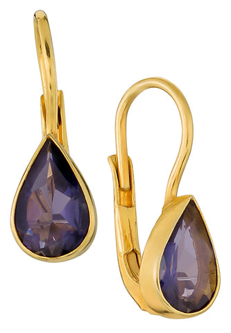 The Romaunt of Margret Teardrop Iolite Earrings