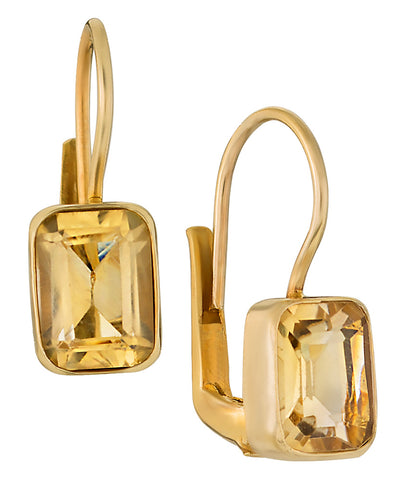 Princess Citrine Earrings