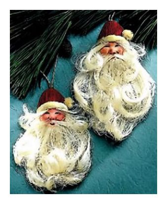 Bearded Santa Ornaments