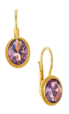Georgian Drop Amethyst Earrings