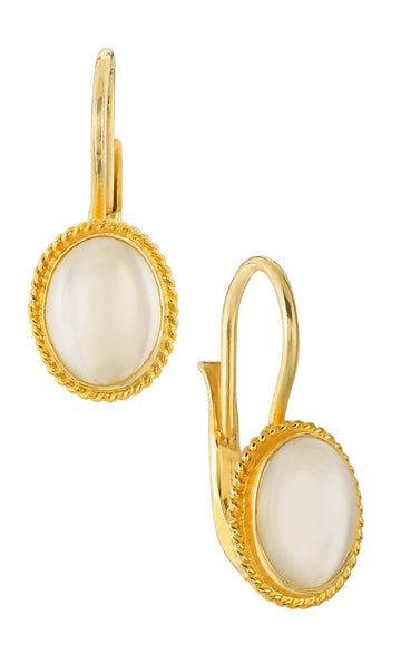 Georgian Drop Moonstone Earrings