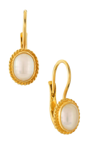 Georgian Drop Pearl Earrings