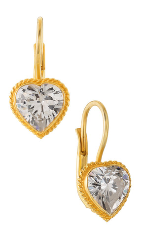 Victorian Heart Cubic Zirconia Earrings