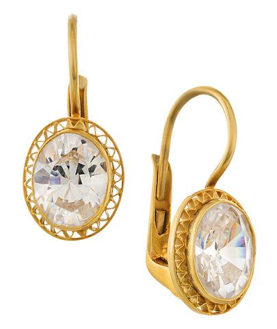 Cubic Zirconia Parlor Earrings
