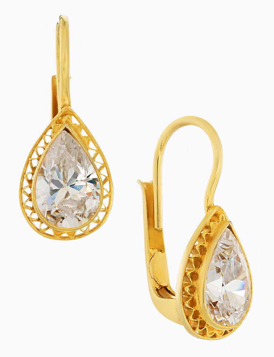 Duchess Of Marlborough Cubic Zirconia Earrings