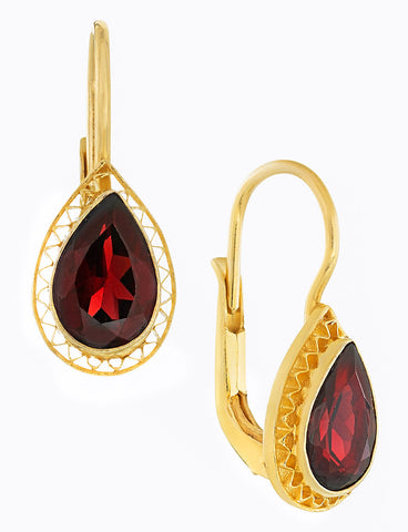 Duchess Of Marlborough Garnet Earrings
