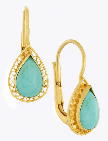 Duchess Of Marlborough Turquoise Earrings